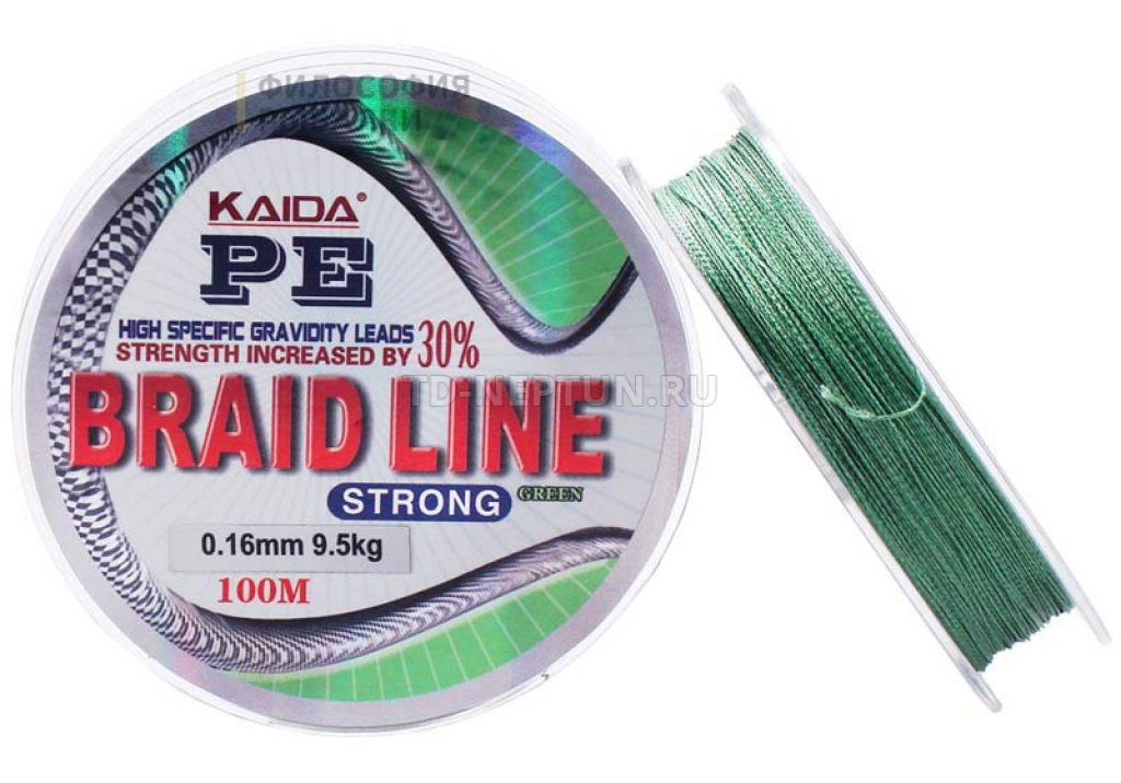 Шнур KAIDA PE BRAID LINE STRONG 100m 0 16mm